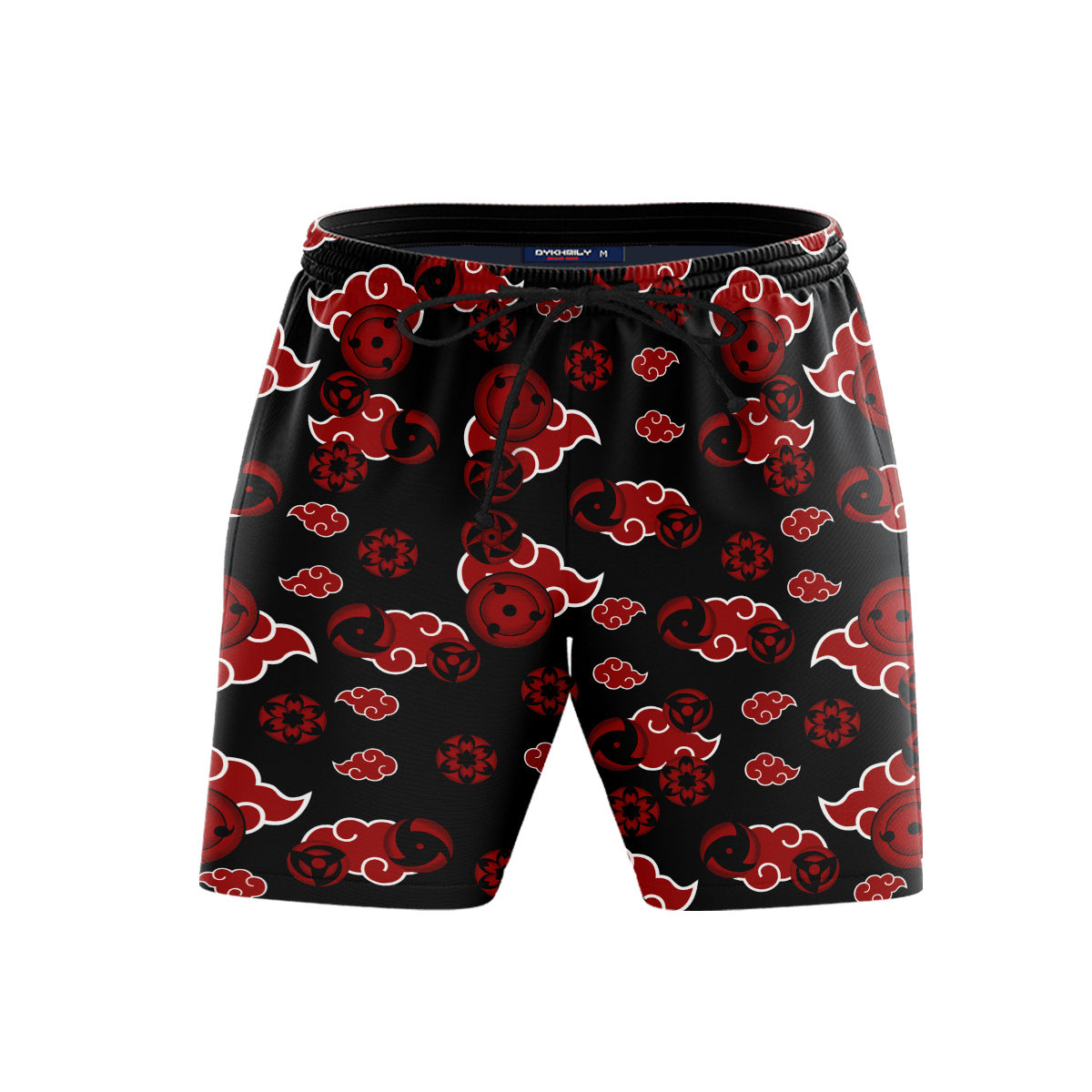 Akatsuki Sharingan Beach Shorts FDM3107 S Official Anime Swimsuit Merch