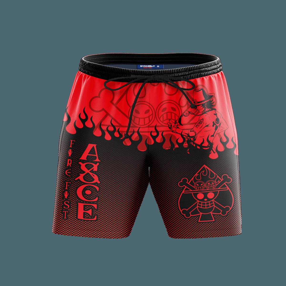 Blazing Ace Beach Shorts FDM3107 S Official Anime Swimsuit Merch