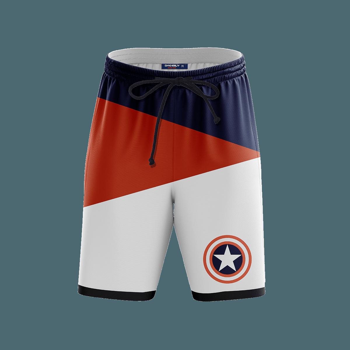 Captain Steve  Beach Shorts FDM3107 S Official Anime Swimsuit Merch