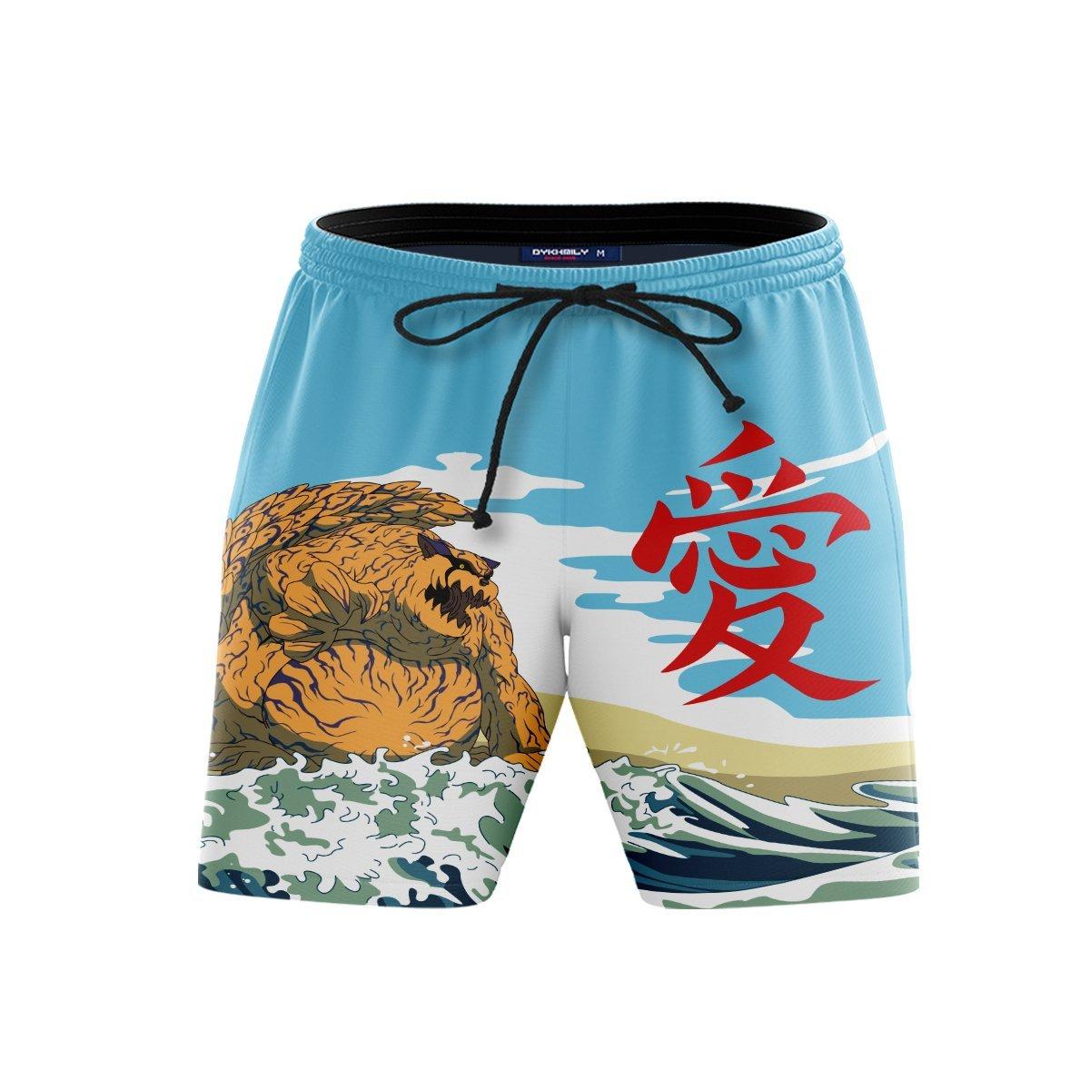 Gaara Summer Beach Shorts FDM3107 S Official Anime Swimsuit Merch