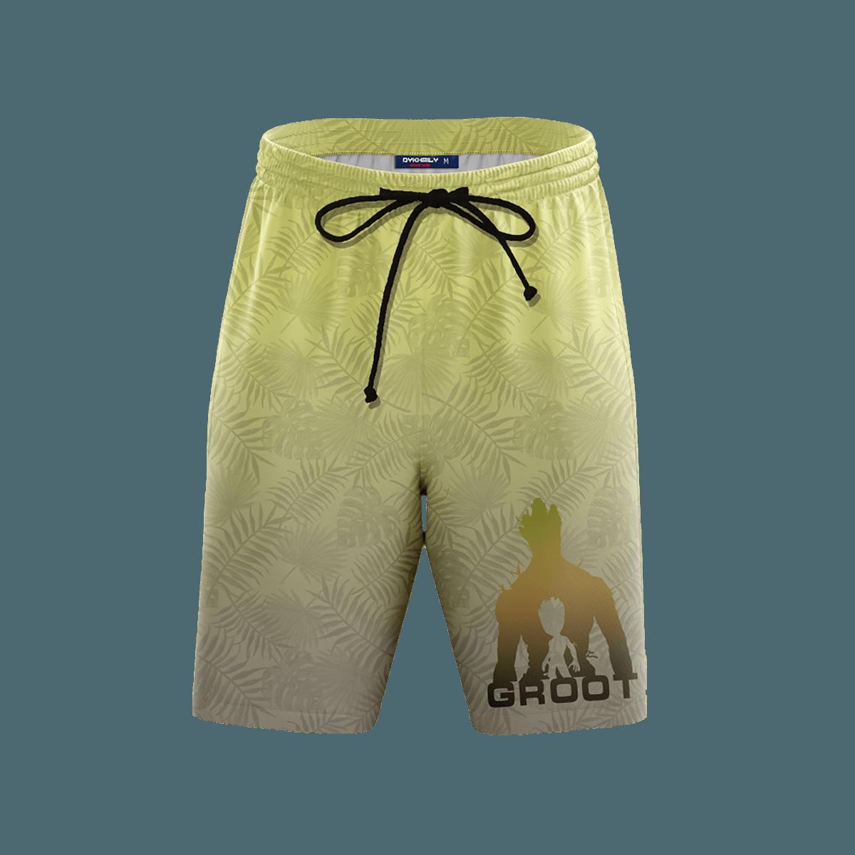 Guardian Groot Beach Shorts FDM3107 S Official Anime Swimsuit Merch