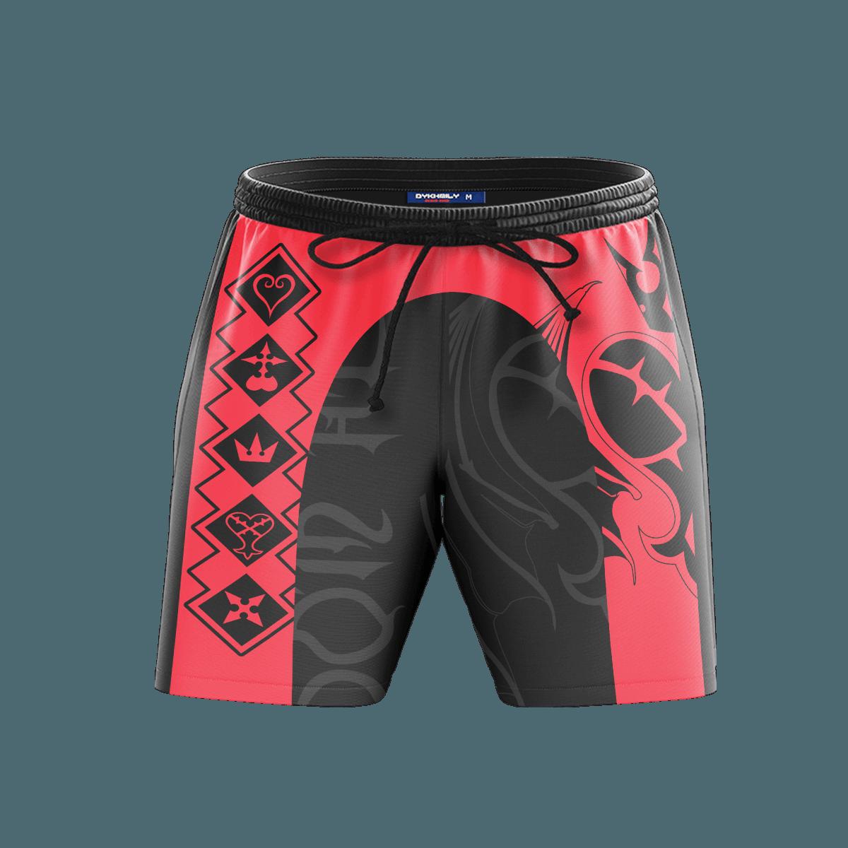KH Black Heart Beach Shorts FDM3107 S Official Anime Swimsuit Merch