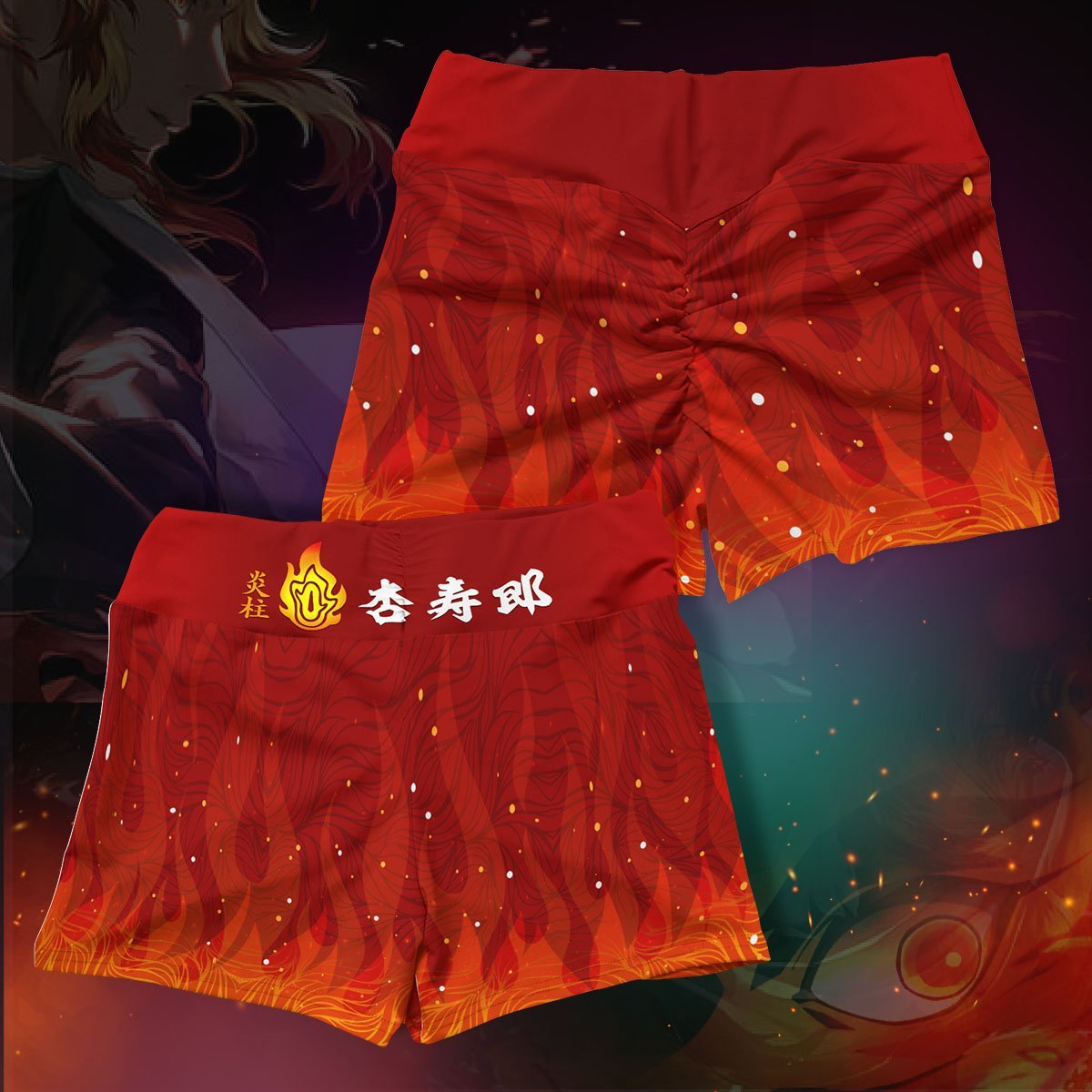 kyojuro fire active wear set 601350 - Anime Swimsuits