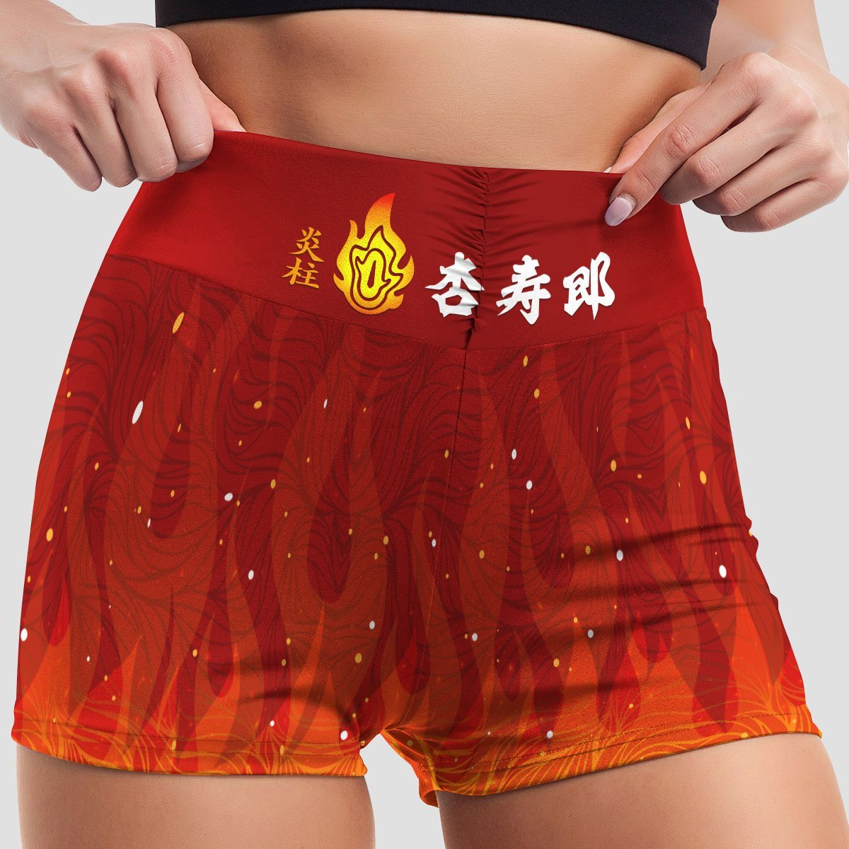 kyojuro fire active wear set 954670 - Anime Swimsuits