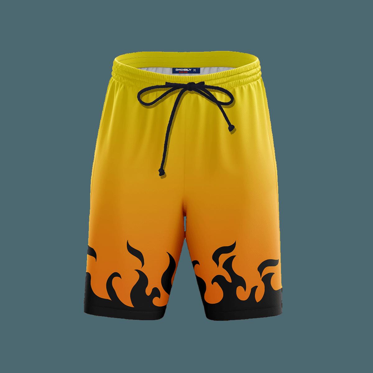Kyuubi Chakra Beach Shorts FDM3107 S Official Anime Swimsuit Merch