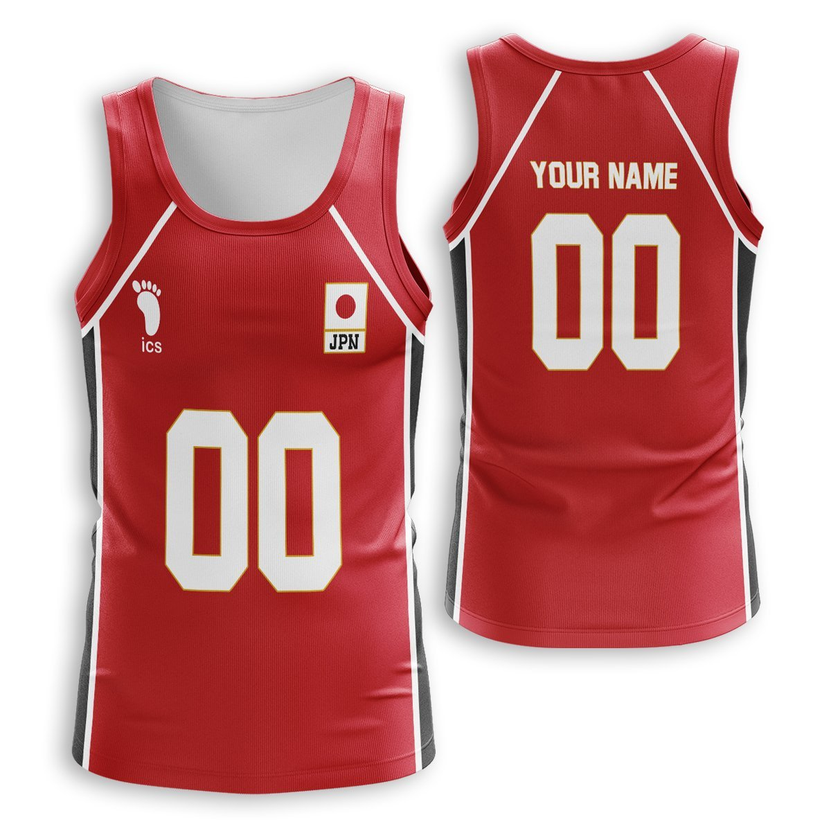 Personalized Haikyuu National Team Unisex Tank Tops FDM3107 S Official Anime Swimsuit Merch