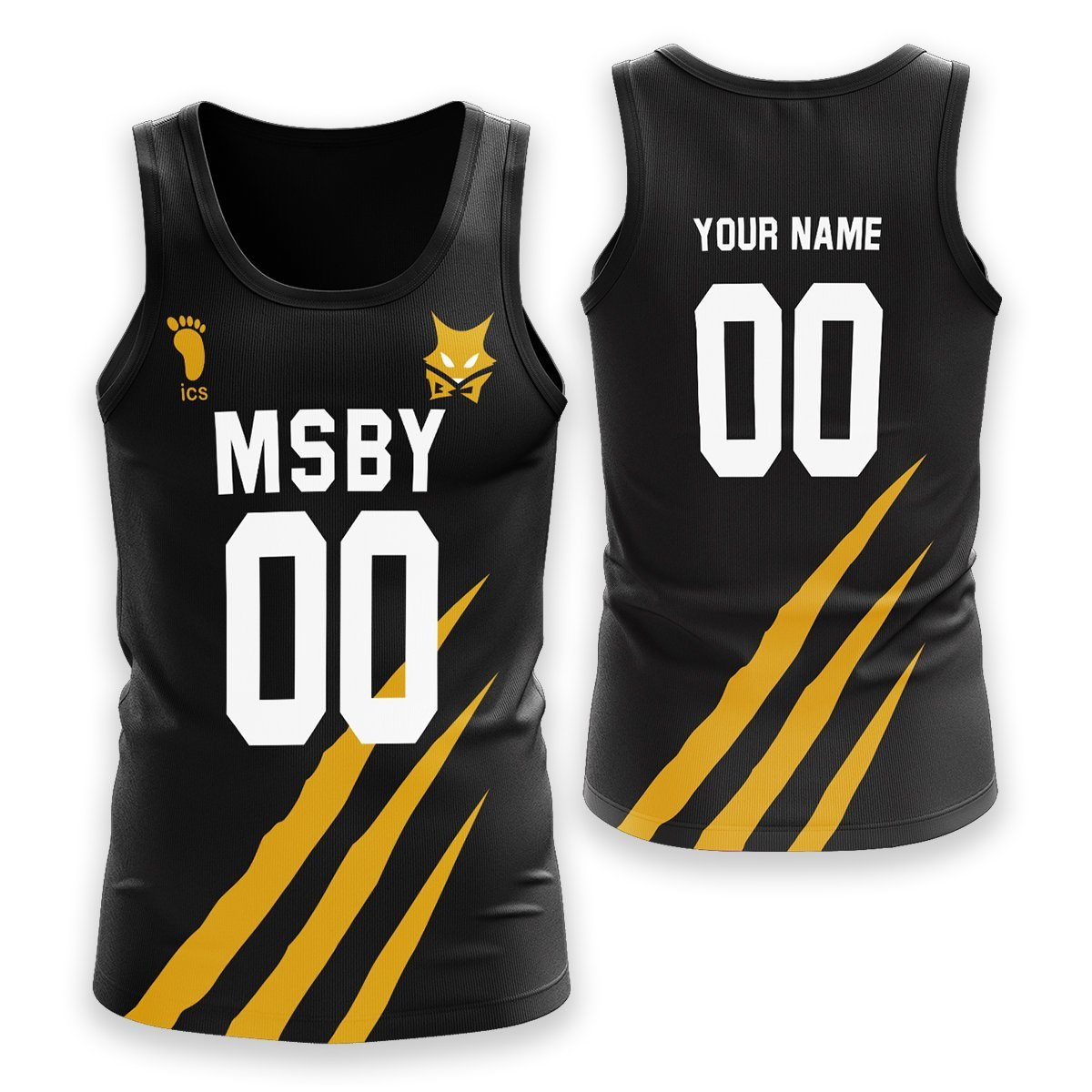 Personalized MSBY Black Jackals Unisex Tank Tops FDM3107 S Official Anime Swimsuit Merch
