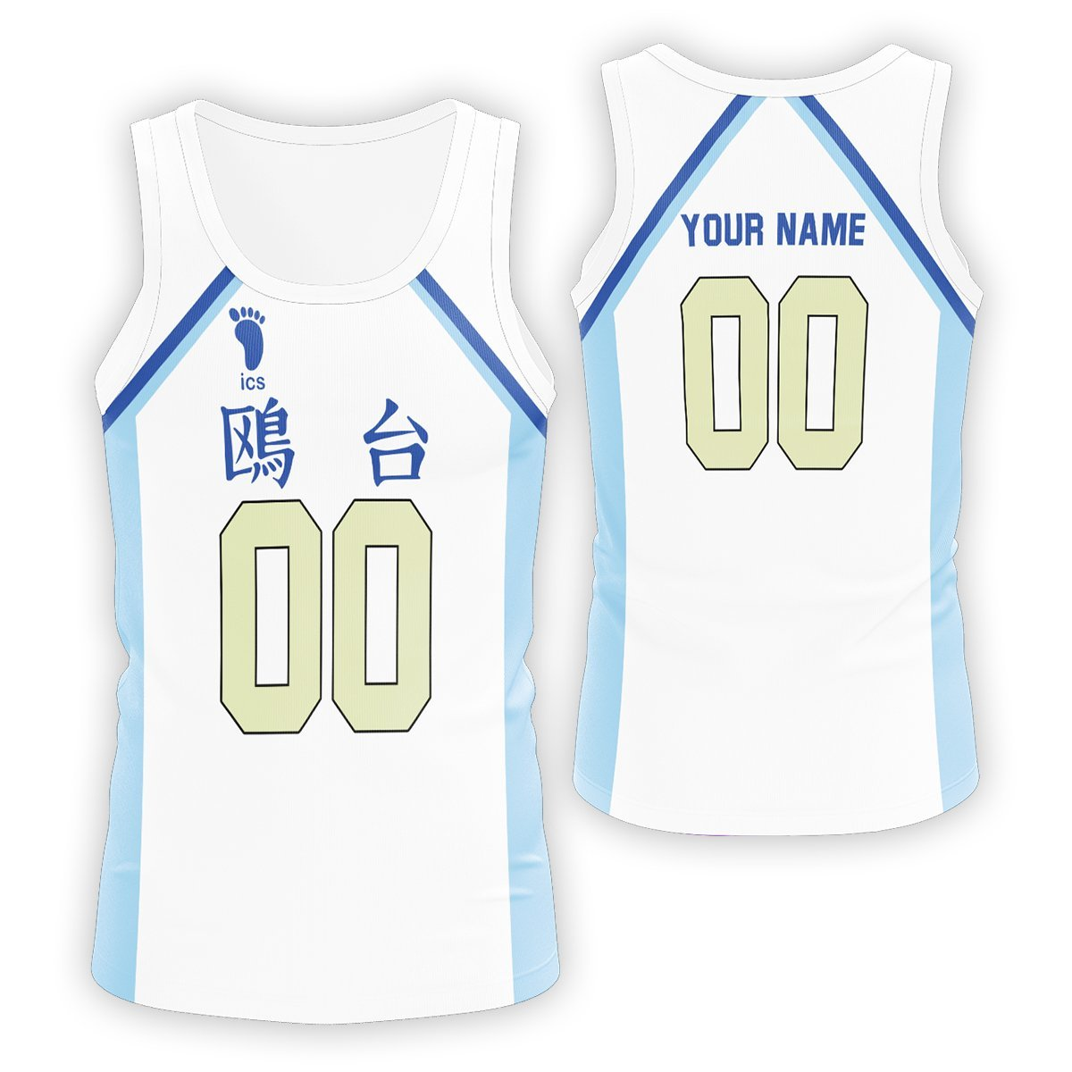 Personalized Team Kamomedai Unisex Tank Tops FDM3107 S Official Anime Swimsuit Merch