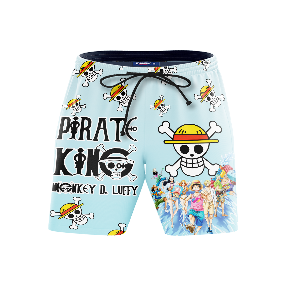 Pirate King Luffy Beach Shorts FDM3107 S Official Anime Swimsuit Merch