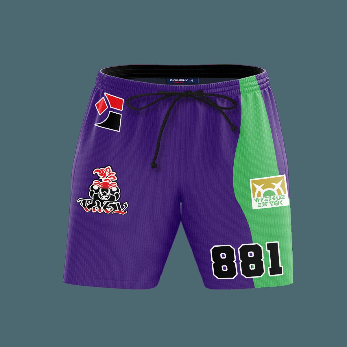 Pokemon Poison Uniform Beach Shorts FDM3107 S Official Anime Swimsuit Merch