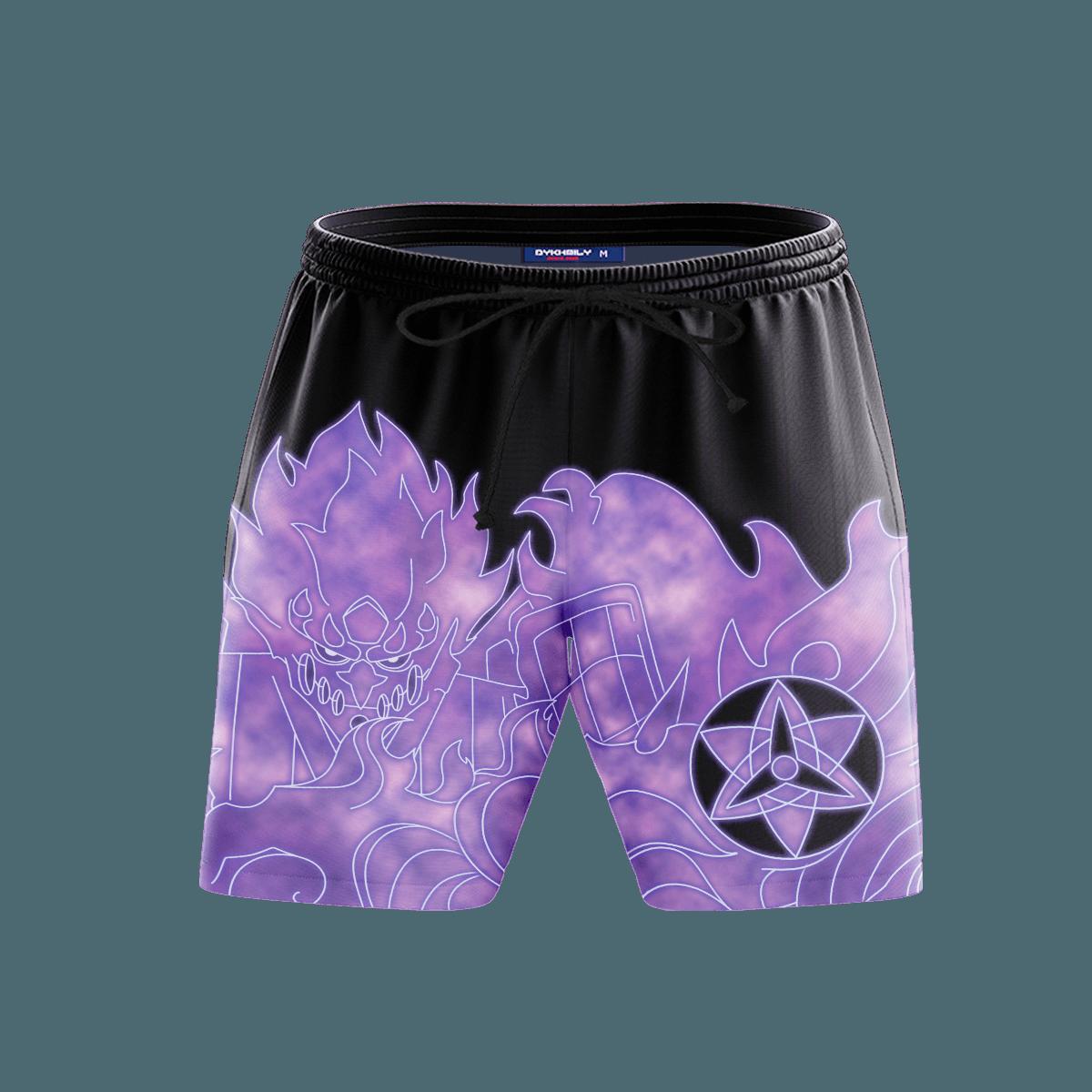 Sasuke Armor Beach Shorts FDM3107 S Official Anime Swimsuit Merch