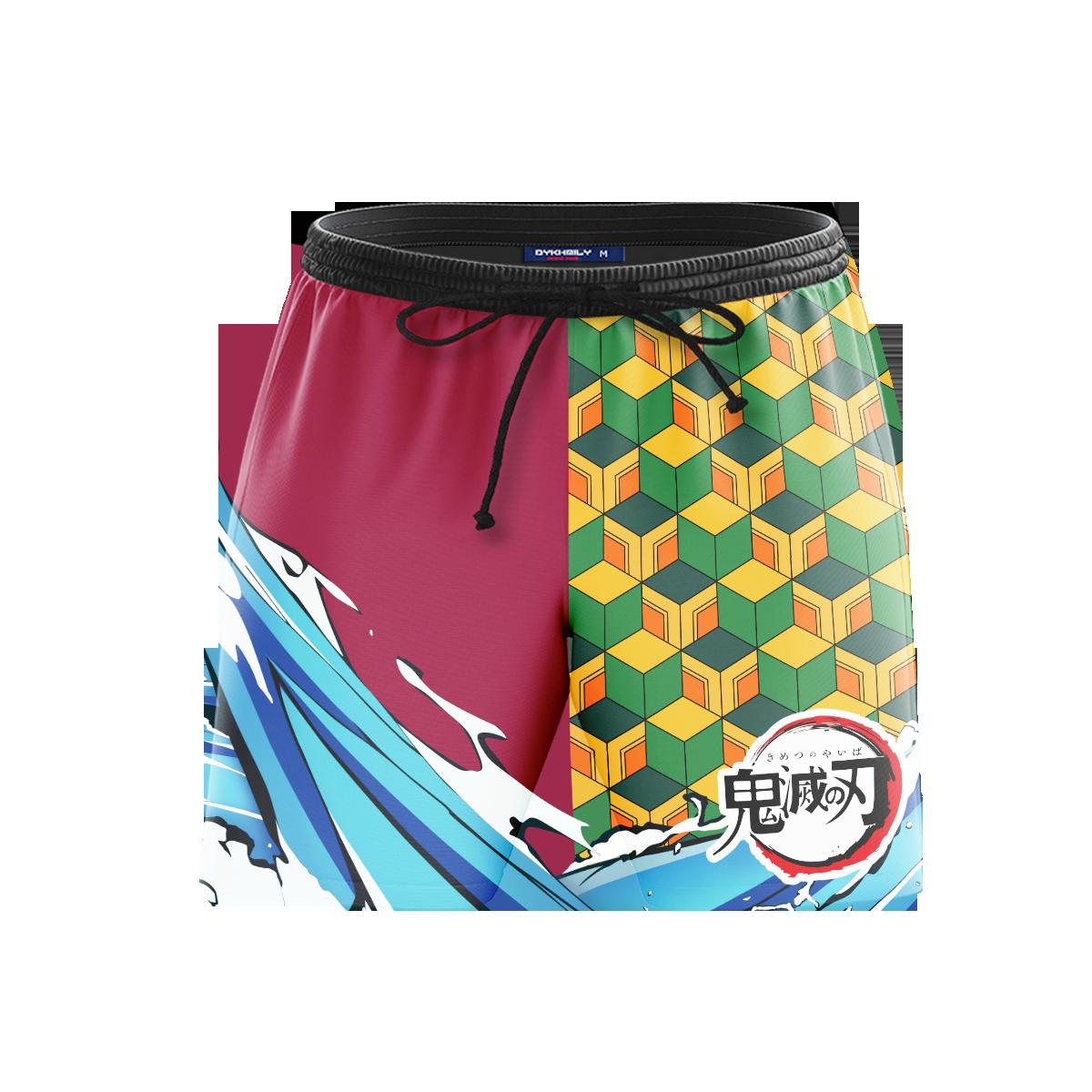 Slayer Giyu Beach Shorts FDM3107 S Official Anime Swimsuit Merch