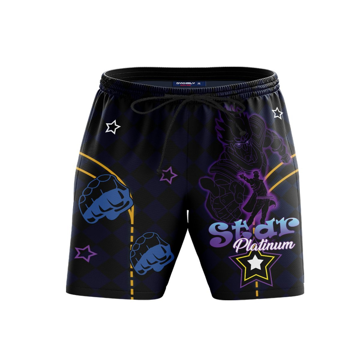 Star Platinum Beach Shorts FDM3107 S Official Anime Swimsuit Merch