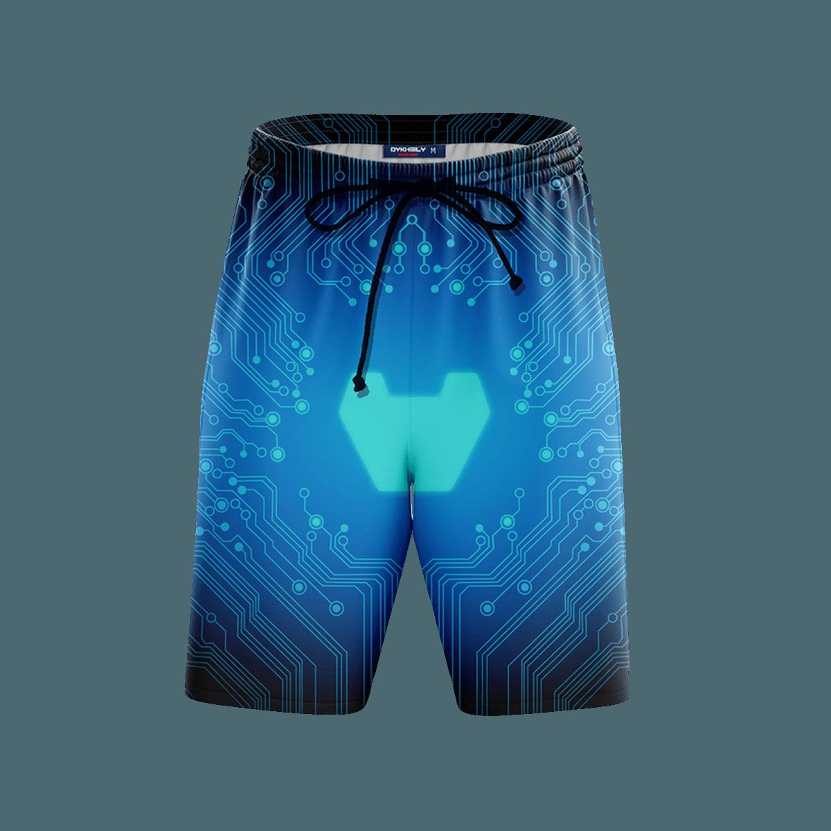 Stark Tech Beach Shorts FDM3107 S Official Anime Swimsuit Merch