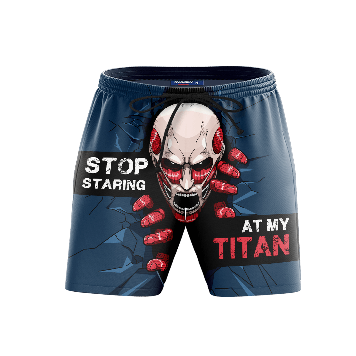 Stop Staring At My Titan Beach Shorts FDM3107 S Official Anime Swimsuit Merch