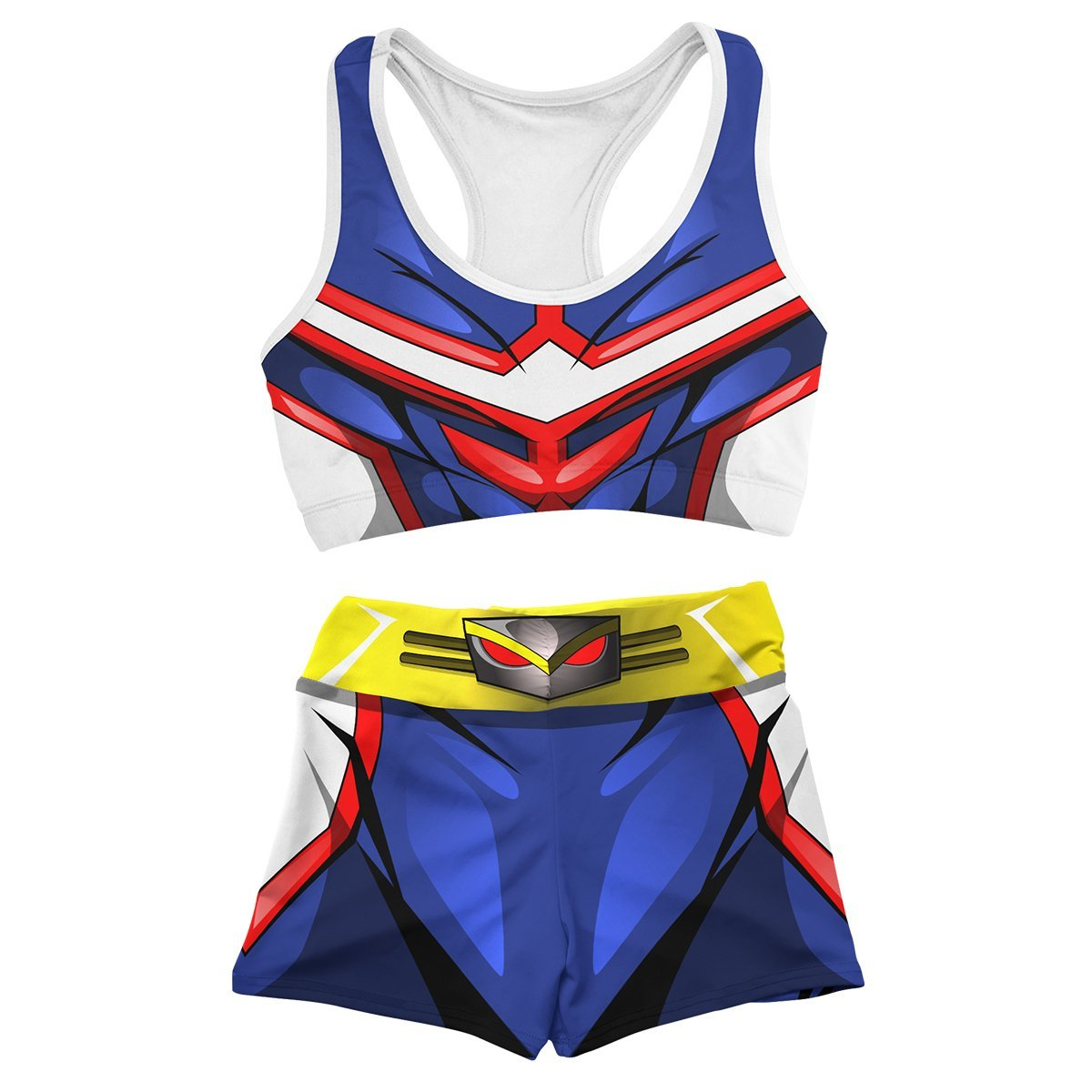 UA High All Might Active Wear Set FDM3107 Entire Set Official Anime Swimsuit Merch