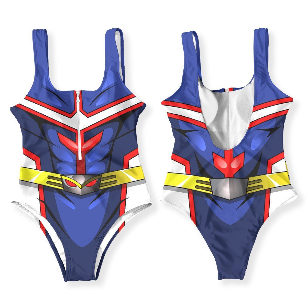 UA High All Might One Piece Swimsuit FDM3107 XS Official Anime Swimsuit Merch