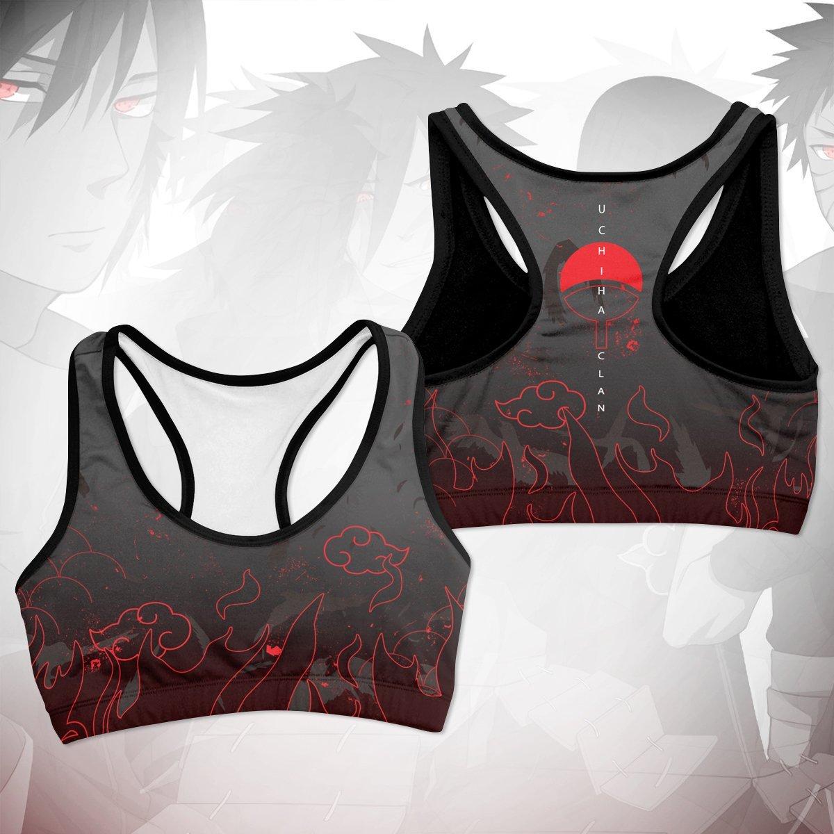 uchiha emblem active wear set 424050 - Anime Swimsuits