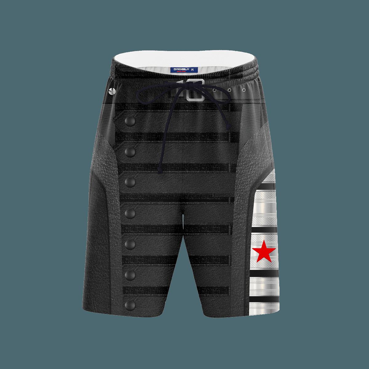 Winter Soldier Beach Shorts FDM3107 S Official Anime Swimsuit Merch