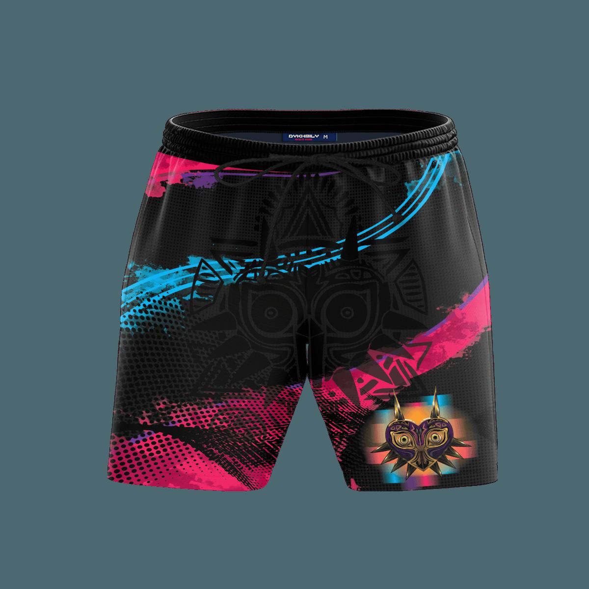 Zelda Majora Beach Shorts FDM3107 S Official Anime Swimsuit Merch